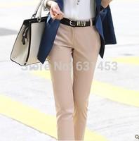 2013 New Arrival Autumn Korean Style Women Fashion Pencil Pants (Belt Free)