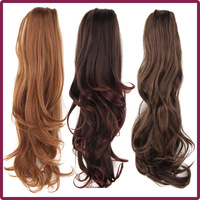 50cm/20Inch 130g Cheap Long Wavy Synthetic Caw Ponytail Women fashion Ponytails 3colors to choose