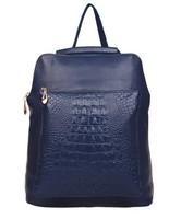 Free Shipping 2013 FashionLocation Women's Genuine Leather Handbag Crocodile Pattern Preppy Style High Quality Cowhide Backpack