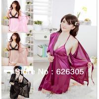 Free Shipping!!! Hotsale Sexy Lingerie Uniform Sexy Sleepwear +Bra Skirt  Lace Sexy Nightdress Sexy Costume Pyjamas Baby Dolls