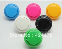 50 PCS/lot 30mm Round Push Button with plastic switch, buttons for arcade game machine