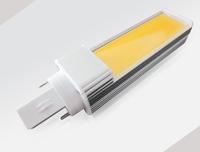 New arrival 10pcs/LOT 6W 580lm 6W  G24/G23/E27/B22 2800-7000K isolated power COB LED CHIP led plug light