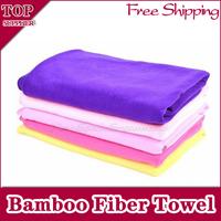 """Free shipping 2pcs/lot 55""""x27""""(140x70cm), Bath Towel, 100% Bamboo Fiber Towel, 6 Colors."""