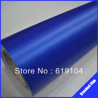 ROHS certificate 1.52x30M air free bubbles with channel cerulean blue brushed aluminum vinyl sticker roll