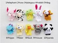 WJ013-50 Mini Fashion Lovely Soft Animal Plush Small Toy Finger Dolls 6 CM Supernova Sale Cartoon Gift Panda Rabbit Ect Style