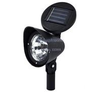 Retail & Wholesale Drop Shipping 6PCS/LOT Hot 3-LED Outdoor Solar Spotlight Landscape Spot Flood Light LED Garden lawn Lamp 4994