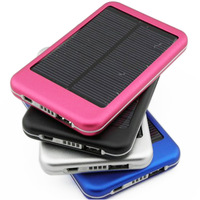 Dual USB 5000mAh solar charger, power bank for mobile phone/iPhone/iPad
