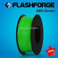 Flashforge 3D Printer  Filaments ABS Green,1kg per roll, diameter 1.75mm.