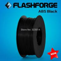 Flashforge 3D Printer filament ABS black color,1kg per roll, diameter 1.75mm.