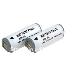 new 2014 Accessories Parts Digital Boy 3Pcs 870mAh NB 9L NB9L li ion rechargeable battery For