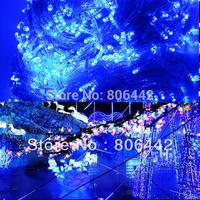 Holiday Sale 100M 600 LED Blue String Fairy Lights Garden Outdoor Wedding Party Christmas Lightings EU Drop Ship TK0588