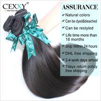 Brazilian Virgin Hair Straight 3PC/LOT 6A Human Hair Weaves Mix length Free Shipping Rosa Hair Products