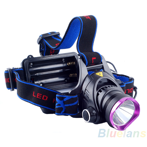 1800 - 2000 Lumens CREE XM-L XML T6 LED Headlamp Headlight Flashlight Head Lamp Light 18650 + Car Charger for Hunting Camping(China (Mainland))