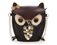 2014 New Fashion Women Leather Handbag Cartoon Bag Owl Shoulder Bags Women Messenger Bag 17782