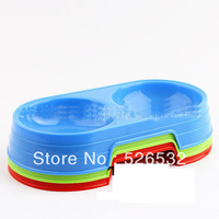 Dual colored plastic pet bowl pet bowl dog bowl pet bowl environmental quality