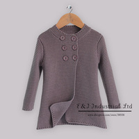2014 Autumn New Arrival Baby Girl Sweater Dark Gray Cotton Sweater With Double-Breasted Halloween Children Wear For Girls