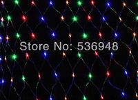 1.5m x 1.5m Led String lamp decoration AC 220V EU Plug Xmas LED Net Light Multi color 96 LED Weding Fairy Lights