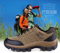 Male Outdoor Slip-resistant Wear-resistant Plus Genuine Leather Hiking Shoes Walking Shoes And Size 11 12 Free Shipping
