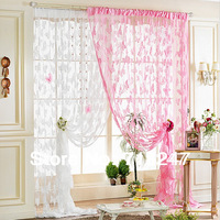 2pcs/lot 100*200cm Butterfly Line String Window Curtain Fringe Panel / Room Divider / Door Curtains, Ready Made, Free shipping
