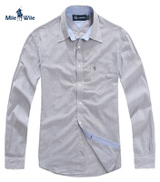 Free shipping Men's clothing men shirt long-sleeve shirt hoarily 100% men cotton stripe shirt men