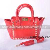 MBK13091209-BH 5PCS 4Colour Christmas Girl Mini Bag Kids Handbag Fashion Rivets Messenger Bags Korea Design Free Shipping