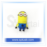 Free Shipping Cartoon New Minions Despicable Me pen drive, Dave 1-32GB USB 2.0 Flash Memory Stick Drive Thumb/Car/Pen Gift