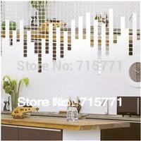 New Acrylic Mirror Mosaic wall sticker decoration wallpaper mosaic  creative DIY  wall sticker  mirror mosaic 100 PCS 3 CM