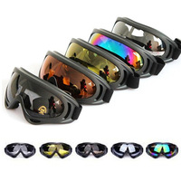 WOLFBIKE clearance promotion new ski goggles multip-color uv-protection anti-fog Winter snow ski goggles glasses