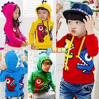 Wholesale1Lot=5pcs!2013Cutebell Cartoon Dinosaur Children's Clothing Boy's Girl's Top Shirts Hoodies Sweater Hoody Coat