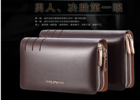 Hot hand caught leisure leather wallet long business men men's bags leather men's hand bag new Europe and the United States