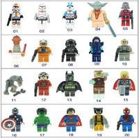 Classic toys 20 PCS Lot Minifigures Super heroesToy Batman Iron Man THOR/X-MAN  Star Wars Building Toys Educational Blocks