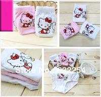 Wholesale New Cute Baby Girls Kids Children Briefs Underwear  Lovely children Panties 100% Cotton Beige Pink White free shipping