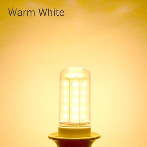KingTop Brand E27 led lamps light 220V Corn Bulbs 5730 36Leds  5730SMD max 11W Candle crystal chandelier lighting  6Pcs/LoT