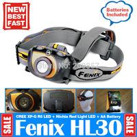 Phoenix Fenix HL30 Cree XPG R5 200LM Head Light Lantern +AA Battery Adventure Time Hunted Equipment Headlamp + Nichia Red LED