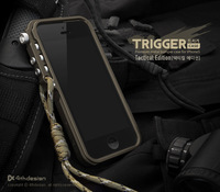 Trigger metal bumper for iphone 5 5s 5c M2 4th design premium aluminum bumper case tactical edition+Retail Package,Free shipping