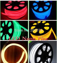 50M/164ft spool flexible led rope neon light flex lightings 12v red yellow blue green white soft neon tube lightings +Fedex free(China (Mainland))