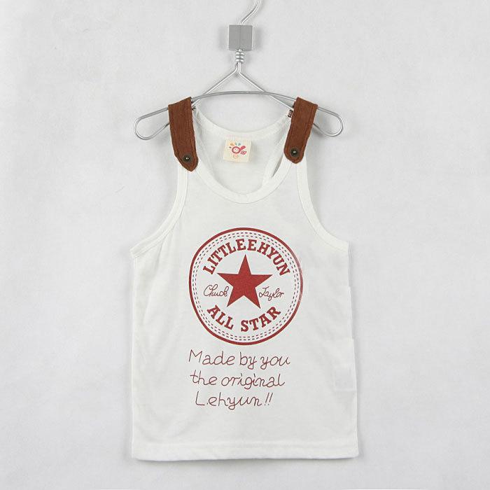 2015 summer star boys clothing girls clothing baby child vest sleeveless T-shirt A0410(China (Mainland))