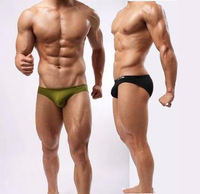 brave person swimming trunks sexy men solid color swimming trunks bikini swim trunks sexy tight body shaping male swimming