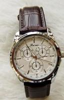 Relogio luxury brand Mens watch vintage quartz brown strap sports male casual  Reloj leather high quality wristwatches Cassio