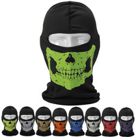 Reflective Skull Balaclava Hood Full Warm Neck Face Cycling Ski Windproof Protector Mask Free shipping