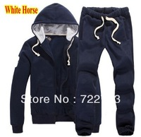 Big Horse Printed Polo Tracksuit for Mens Cotton Sports Suit Brand Fashion Tracksuit Hoodies Sports Pants Jackets Drop Shipping