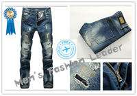 28-40#KPDG0783,2013 Fashion Famous Brand Man Jeans Men,High Quality Ripped Jeans For Men,Dark Color Cotton Denim True Jeans Men