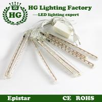 8pcs a set 220V 230V 240V LED christmas light decoration LED Snow fall tube snowing led raining tube led meteor tube