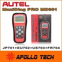 Autel MaxiDiag MD801 4 in 1 Code Reader ( JP701 + EU702 + US703 + FR704 ) 100% Original Multi-functional Scan Tool