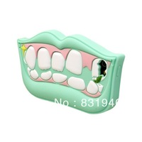 Hot sale Luxury TOP quality soft 3D whimsy teeth for silicone iphone 4s/5/5s Phone cover cases with retail package Free shipping
