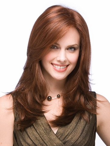 Synthetic hair wig for women full lace wigs is a beautiful, extra-long style with long flattering layers that frame the face(China (Mainland))
