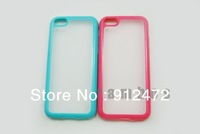 Dual Color TPU Bumper Case Hard Matte Clear Case Skin Cover Frosted for iphone 5c, 500pcs/lot , free shipping