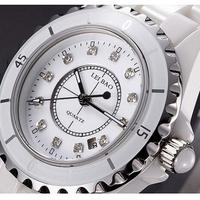 New Men Luxury Black Ceramic Wristwatch Women CZ Diamond Dress Quartz Watches Christmas Gift
