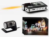 CAR DVR Dual Lens Camcorder i1000 Car DVR dual camera HD 720P dash cam black box with rear cam vehicle view dashboard cameras