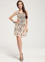 Free Shipping formal dress fashion brand short paillete heart party evening dress women LM6019ES